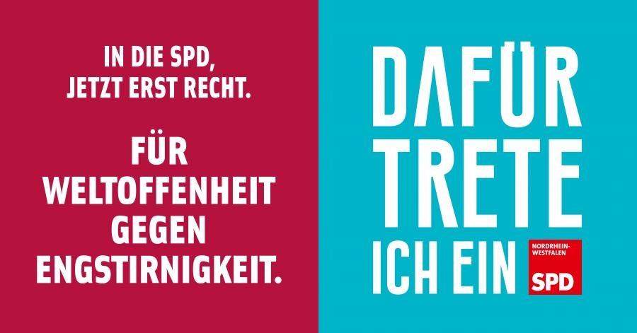 In die SPD, jetzt erst recht. Für Weltoffenheit - gegen Engstirnigkeit. Dafür trete ich ein.